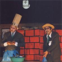 Mofa e Befa actuando no escenario
